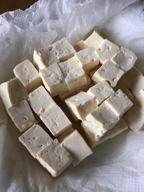ゴーヤチャンプル レンジでチンした木綿豆腐.jpg