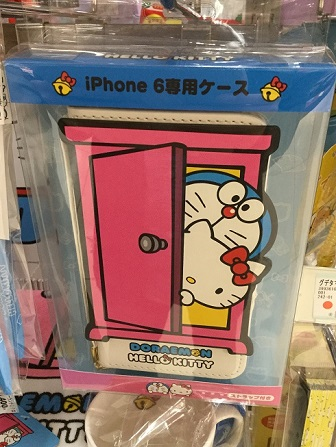 ドラえもん×ハローキティ コラボ サンリオ iPhone 6専用ケース.jpg