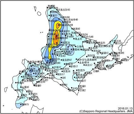 北海道の積雪 20160113.jpg
