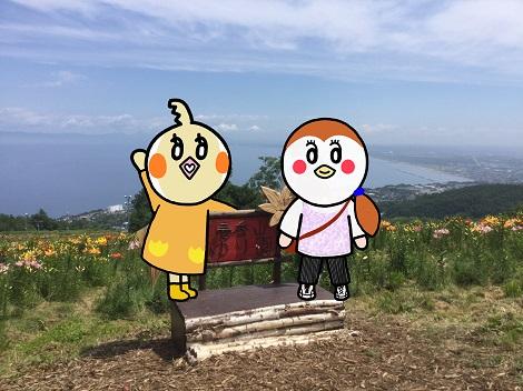 オーンズ春香山ゆり園 すずめちゃんとめぐ.jpg