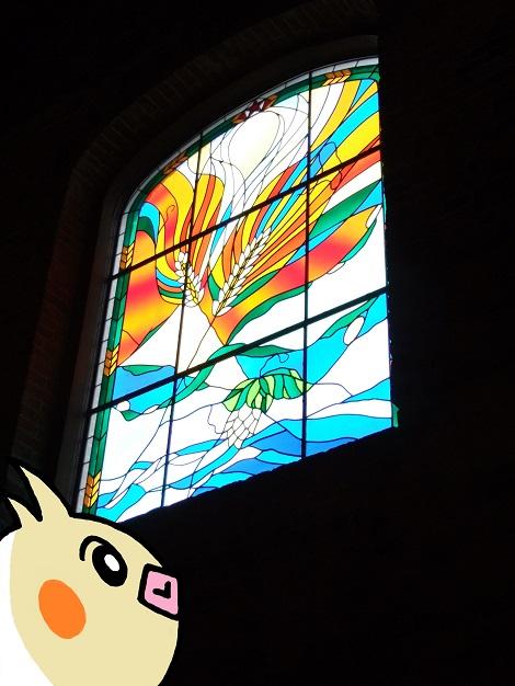 サッポロビール博物館の中にあるステンドグラス.jpg