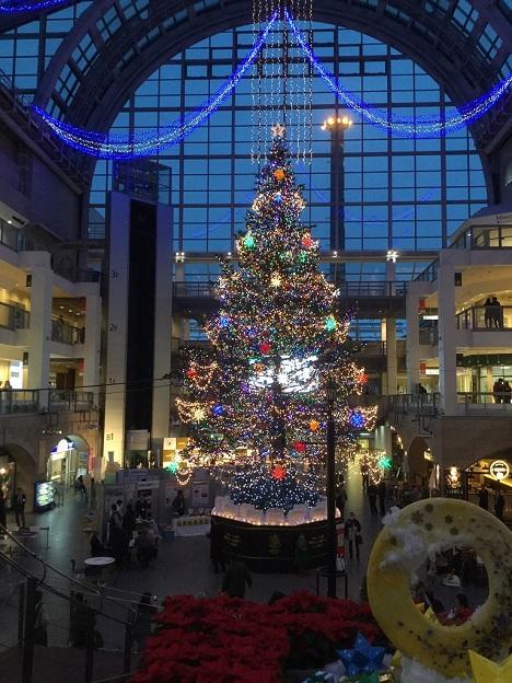 サッポロファクトリー ジャンボクリスマスツリー 光のショータイム 点灯式1.jpg