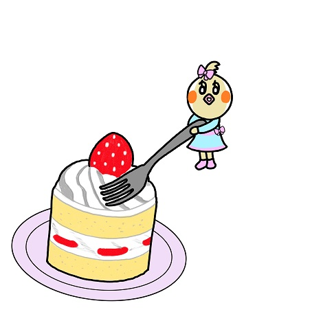 苺のショートケーキいただきま~す!.jpg